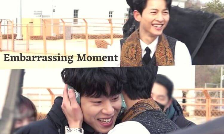 """Song Joong Ki And Kim Sung Cheol Get Embarrassed After Flirting On Camera In """"Vincenzo"""""""